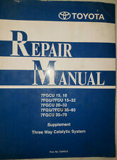 Toyota Forklift Lift Truck Three Way Catalytic System Repair Manual See Below