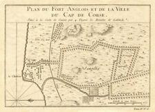 """""""ville du Cap de Corse"""". Cape Coast CASTLE VILLE CITY plan Ghana. Bellin 1747 ma..."""