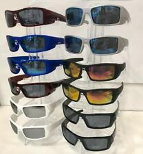 sports sunglasses plastic frame wholesale 12 pairs #E1002