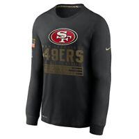 San Francisco 49ers Nike 2020 Salute to Service Sideline Performance Long Shirt