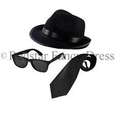 Blues Brothers Cappello Occhiali da sole neri CRAVATTA COSTUME ADDIO AL CELIBATO