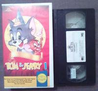 VHS Film Ita Animazione TOM & JERRY 1 Gli Scudi 1992 Cat Concerto no dvd (VH60)