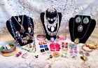 Vintage & Modern Colorful Costume Jewelry Lot - Trifari, Avon