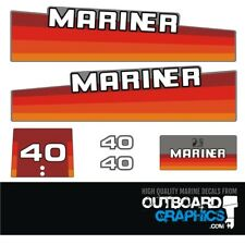 Mariner 40hp rainbow outboard engine decals/sticker kit