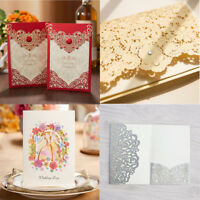 Personalised Laser Cut Wedding Day Evening Invitation Card & Envelopes 4 Color