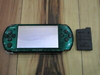 Sony PSP 3000 console Spirited Green w/battery pack Japan B764