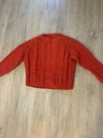 Vintage Red Handmade Sweater