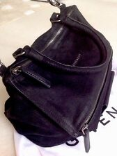 GIVENCHY Pandora bag Nubuk black titanium HW medium leather Tasche schwarz TOP!!