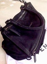 GIVENCHY Pandora BAG NABUK BLACK TITANIUM HW Medium Leather Borsa Nero Top!!!