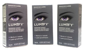 Bausch + Lomb Lumify Redness Reliever Eye Drops 0.25 fl oz (Lot of 3) Exp: 2022+