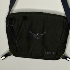 NEW Osprey Beta Port Portable Tablet Laptop Messenger Shoulder Bag Dark Gray