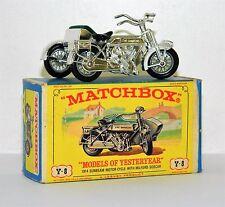** LESNEY MATCHBOX MODELS OF YESTERYEAR 1914 SUNBEAM MOTERCYCLE Y-8 MIB **