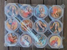 Set of 12 Rose Scented Wooden Rosaries from Holy Land Made in Jerusalem