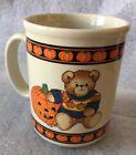 Vintage 1984 Lucy and Me Halloween Mug Teddy Bear Jack-o-Lantern Pumpkin