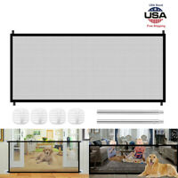 Large Pet Dog Baby Safety Gate Nylon Mesh Fence Portable Guard Indoor Home Net