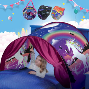 Children Kids Dream Tents Bed Canopy Pop Up Camp Foldable Home Indoor Playhouse