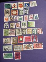 WEST GERMANY 1971 - 1972 Used 39 Stamps, Very Fine Condition, See Photos