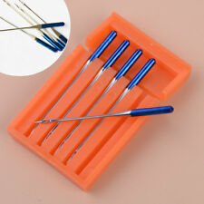 5pcs Steel Blue Tip Needle Size 11 0.38mm 1.5inch Fit For Janome Sewing Machine