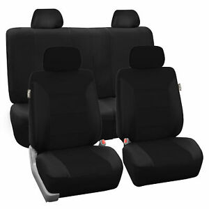 High Quality Luxury Car Seat Cover Front Rear Black For Car Truck SUV