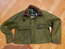 Barbour A130 Spey Jacket Size Medium Waxed Cotton Vintage Wading Fishing Jacket