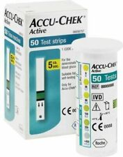 ACCU CHEK Active Test Strips Blood Medical 50 Sheets Diabetic Check Expire 2020