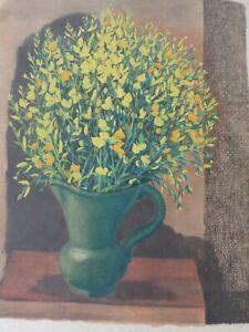 Moise KISLING-Estampe/Litho-Le vase de fleurs- Pochoir Jacomet