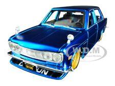 1971 DATSUN 510 MATT CANDY BLUE 1/24 DIECAST MODEL CAR BY MAISTO 32527
