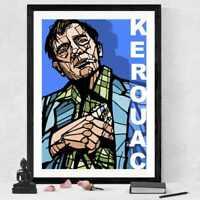 Jack Kerouac art print - archival quality - Beat generation On the Road