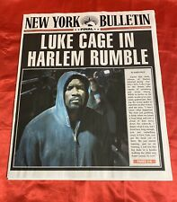 Cloak & Dagger - Production Used Prop Luke Cage Newspaper! Rare! Marvel!