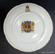 Weatherby Hanley England Royal Falcon Ware - QUEEN ELIZABETH CORONATION Plate