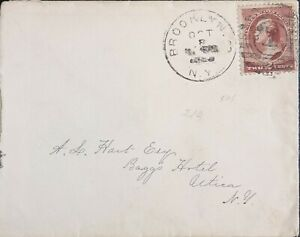 USA VINTAGE STAMP 1883 2 Cent George Washington, red brown; #210 STAMP ON  COVER