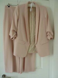 Zara soft pink trouser suit size L (14)