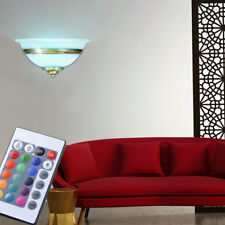 LED RVB lumière murale intensité variable chambre-salon nuit verre télécommande