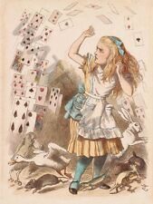 """Tenniel alice pays des merveilles cartes 12x16 """"poster art print HP3588"""