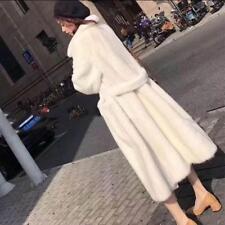 Mujeres 100% real genuino de piel de visón largo abrigo Trench Chaquetas Parka gruesa de gran tamaño