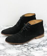 RUSSELL & BROMLEY Mens Black Suede Leather Desert Boots, Size EU 46 / UK 12