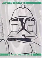 STAR WARS CLONE WARS Original Topps Sketch Card by Kevin Graham - Clone Trooper