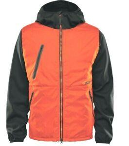 ThirtyTwo MULLAIR 3D FLEECE Mens Zip Front Snowboard Jacket Medium Orange NEW