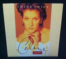 CELINE DION - THINK TWICE - 2 TRACK AUSTRALIAN CD SINGLE  - 1994 - SAMPLER