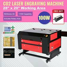 2021 Upgraded 100w 28x20 Co2 Laser Engraver Cutter With Rotary Axis Ruida