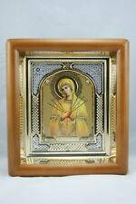 Holy Virgin Mary Seven Arrows Theotokos Wood Frame Семистрельная Б Икона Киот