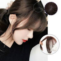 Human Hair Front Fringe Clip in Topper 100% Remy Human Hairpiece For Thin Hair