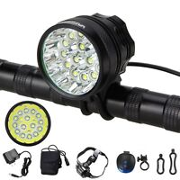 50000Lm 15x XM-L T6 LED Front Head LED Bicycle Lamp Bike Light Headlight Torch