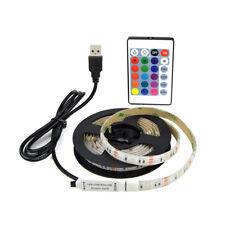 Tira LED Decoracion 5V USB Blanco y RGB - Mando a distancia - 0,5M 1M 3M 5M