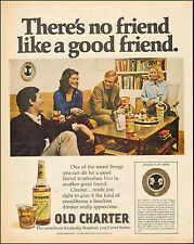 1972 Vintage ad for Old Charter Kentucky Bourbon`Glass Bottle Party  053017