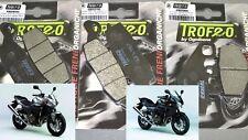 kit pastiglie anteriori + posteriori Kawasaki Z 750 Z750S 2004 2005 2006 Trofeo