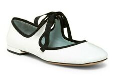 Marc Jacobs Lisa Women's Patent Leather Mary Jane Ballet Flats in White Size 8.5