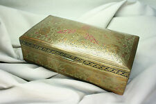 Caja latón lacada. India. Lacquered brass case. India.