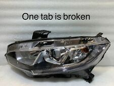 2016 2017 2018 Honda Civic Headlight OEM Left Driver LED Halogen  LH Lamp 949782