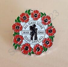 2020 'All Gave Some' Wreath Metal Ppoppy Enamel Lapel Pin Badge